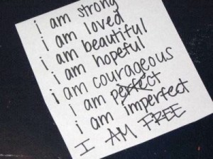I am imperfect and free
